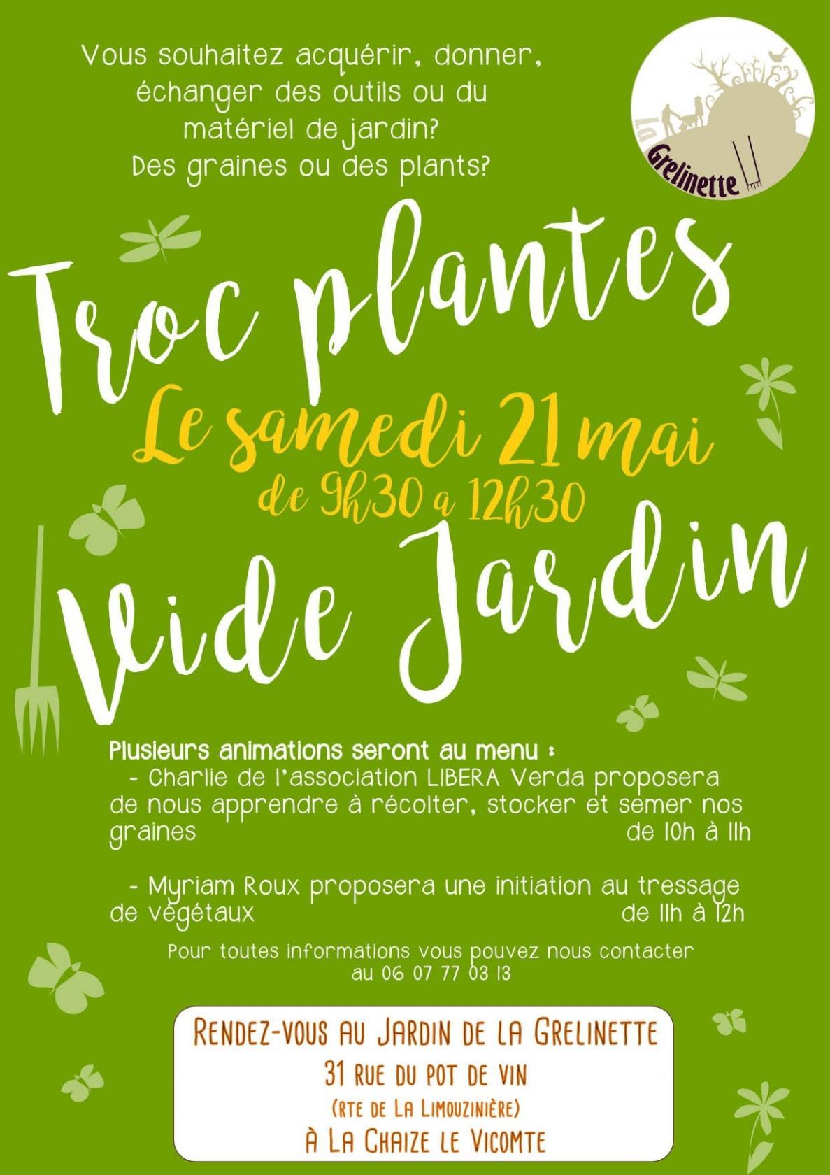 Troc plantes vide jardins la chaize le vicomte for Vide jardin 2016 la garnache