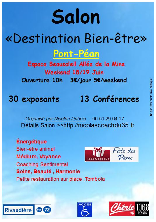 Salon destination bien tre janz 18 juin 2016 unidivers for Salon bien etre marseille