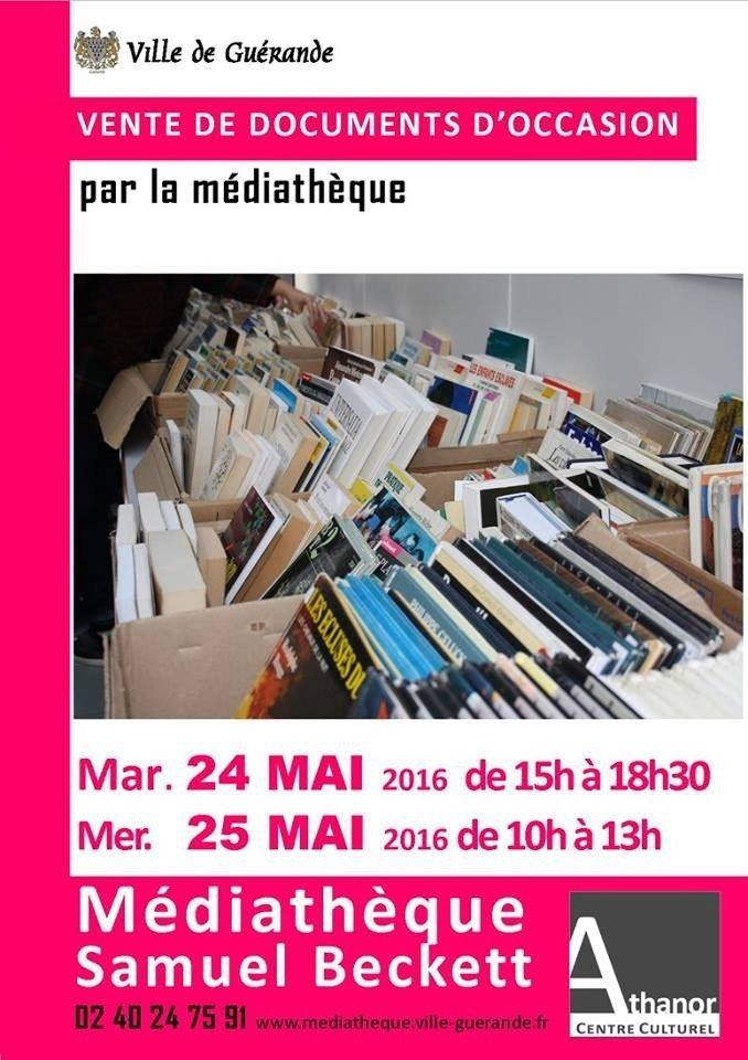 Vente de documents d'occasion par la médiathèque Guérande