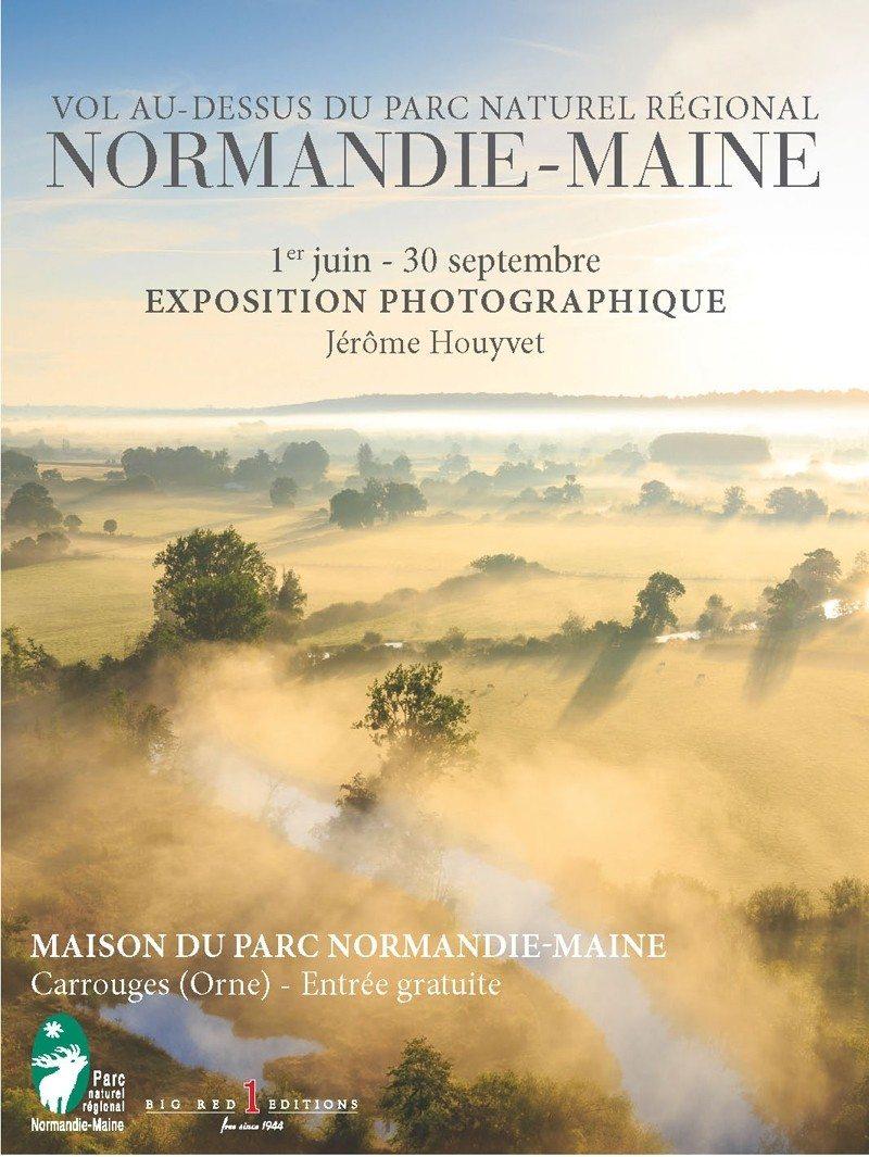 Vol au-dessus du parc Normandie-Maine Carrouges
