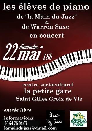 Warren Saxe et ses élèves de piano / du classique au jazz Saint-Gilles-Croix-de-Vie