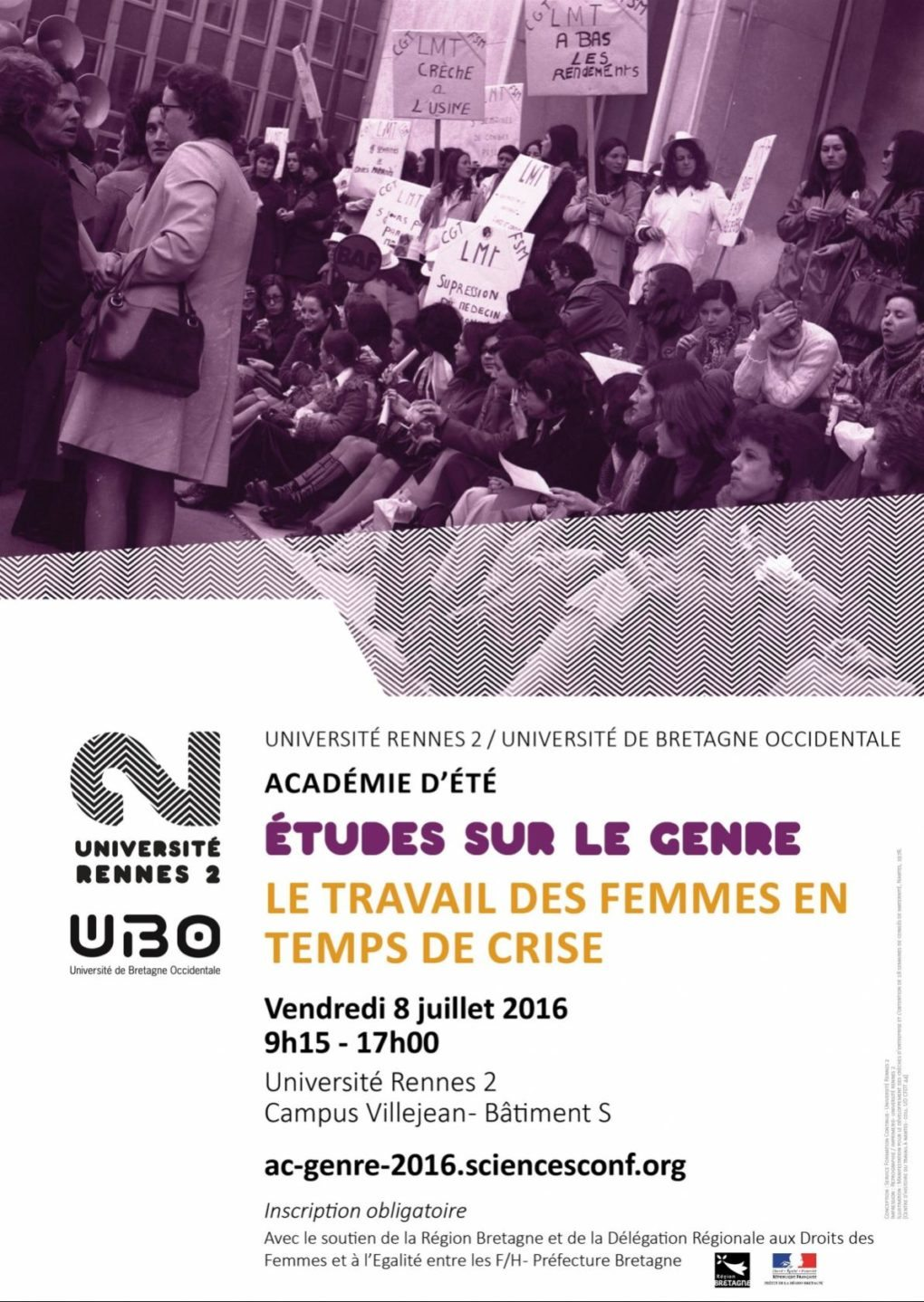 Académie d'été 2016 du DIU études sur le genre Rennes