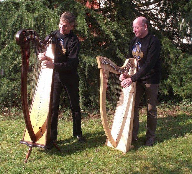 An Tadou Kozk - Yvon Quellec et Michel Foulon harpes celtiques Châteaulin