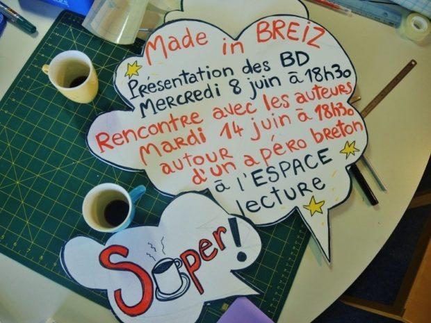 BD bretonne à l'espace lecture Carrefour 18 Rennes