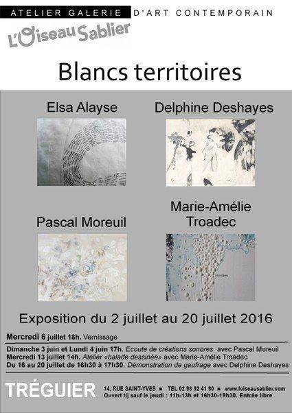 Blancs territoires avec Alayse Deshayes Moreul et Troadec Tréguier