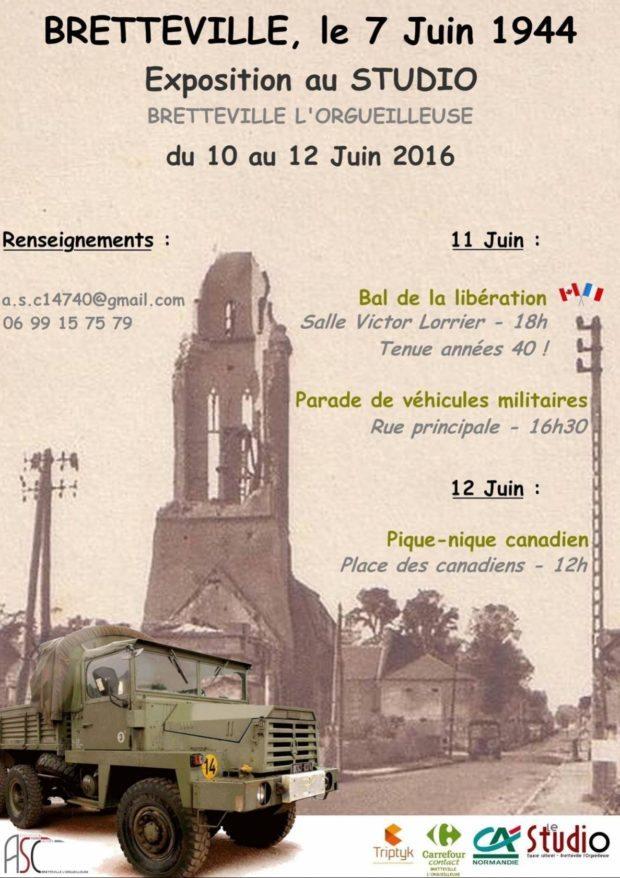 Parade véhicules militaires du D-Day Bretteville-l'Orgueilleuse