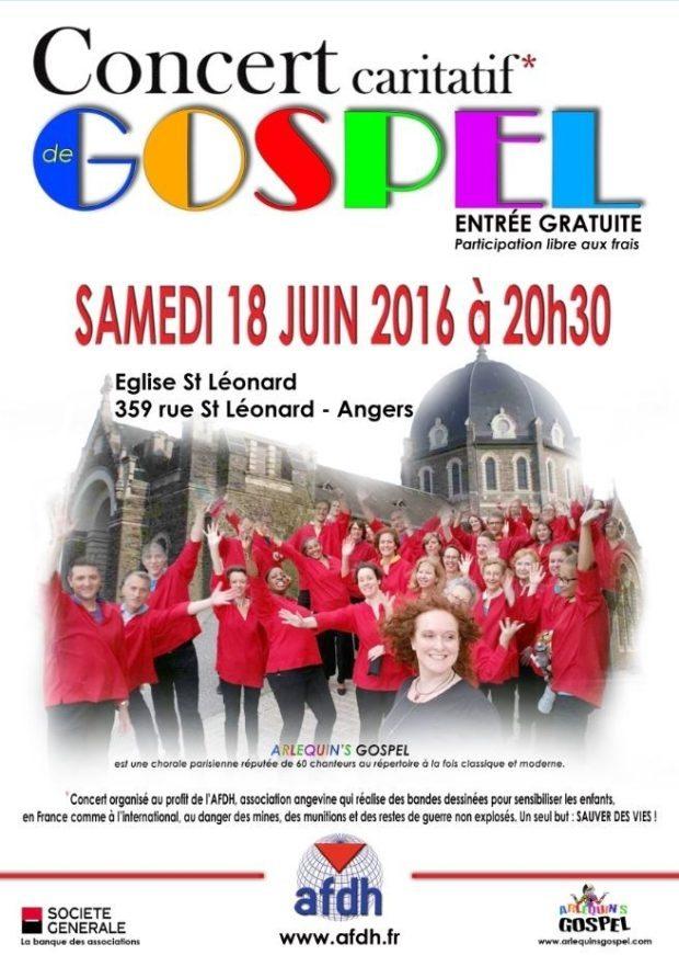Concert caritatif gospel Angers