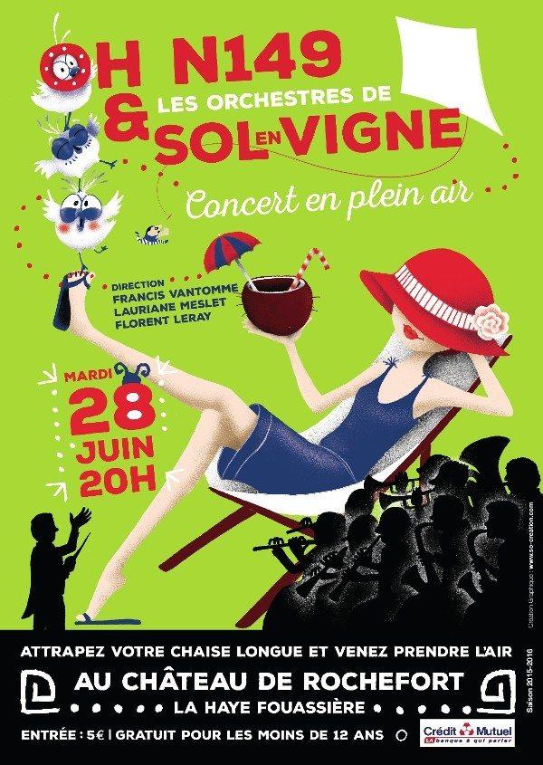 Concert en plein air avec l'OH-N149 et Sol en Vigne La Haie-Fouassière