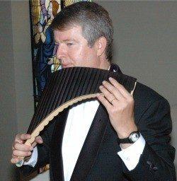 Concert Philippte Husser flûte de pan et harpe Luçon