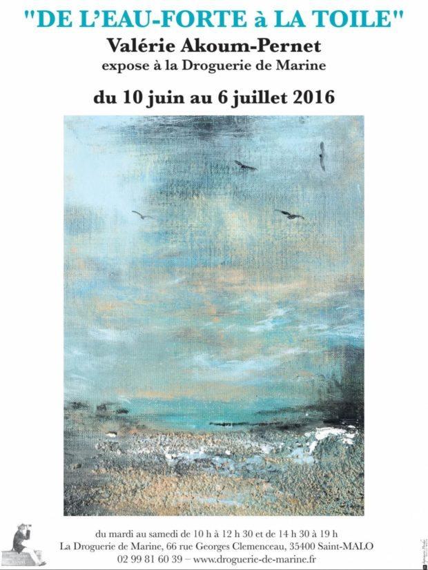 De l'eau-forte à toile une exposition Valérie Akoum-Pernet Saint-Malo