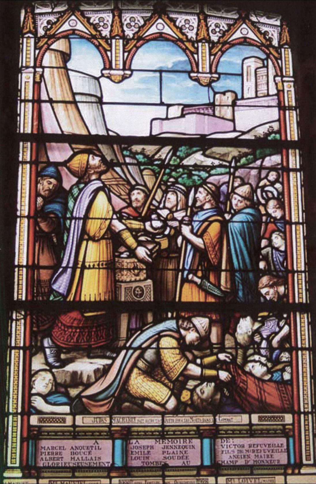 Éclats de Guerres Lueurs de paix Verrières commémoratives La Lucerne-d'Outremer