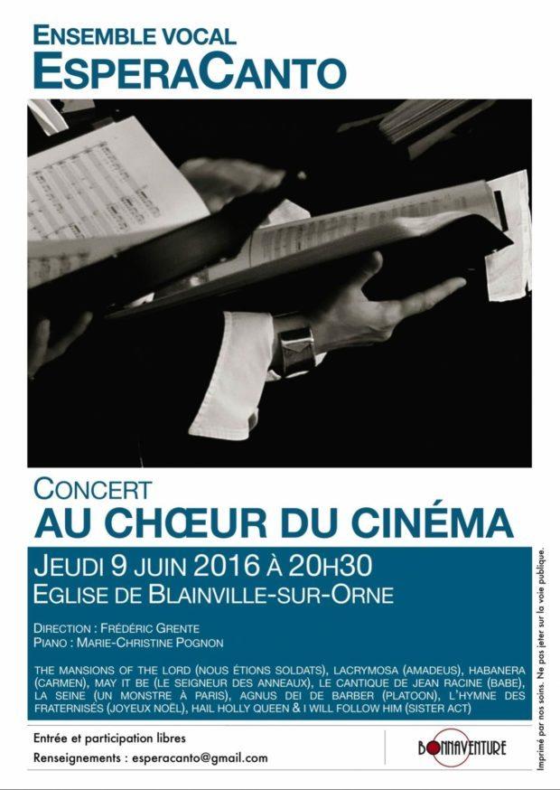 Esperacanto/Au chœur du cinéma/chants extraits musiques films Blainville-sur-Orne