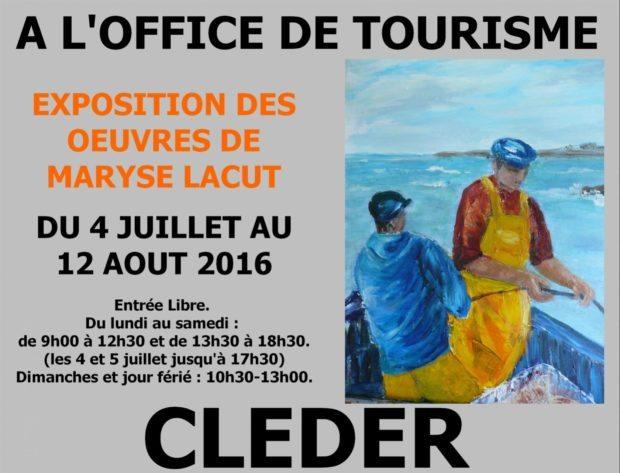 Exposition des œuvres Maryse Lacut Cléder