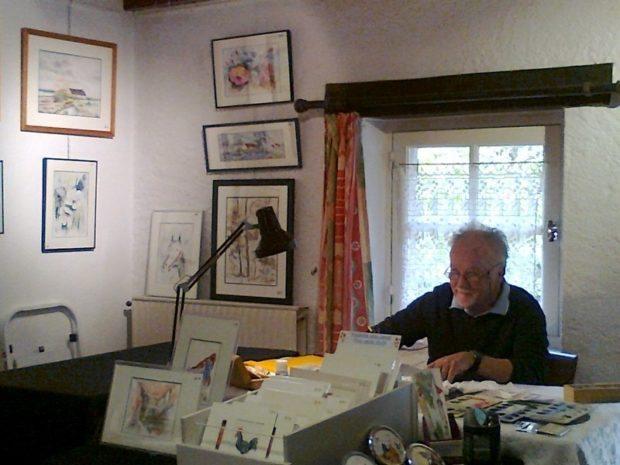 Exposition et démonstration peinture Saint-Lyphard