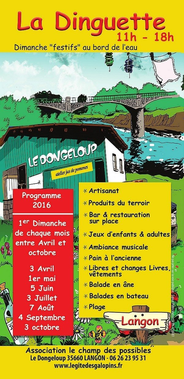 Guinguette au bord Vilaine Langon
