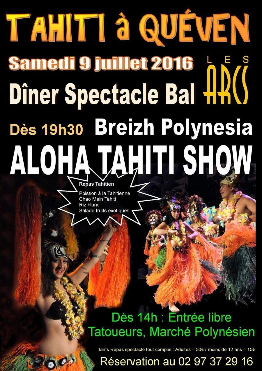 Journée tahitienne dîner spectacle et bal Quéven