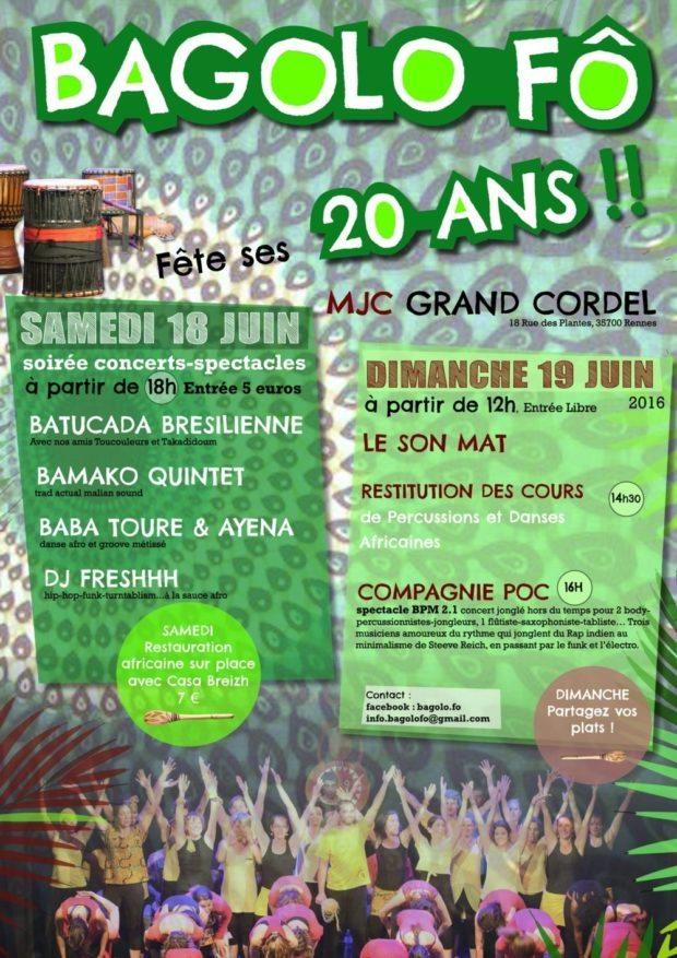 L'association Bagolo Fô fête ses 20 ans Rennes