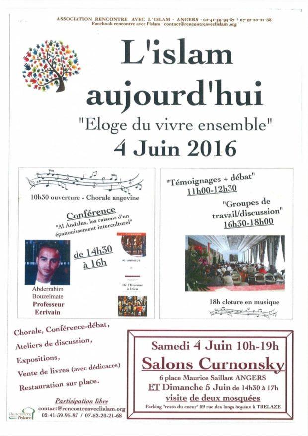 L'islam aujourd'hui l'éloge du vivre ensemble Angers