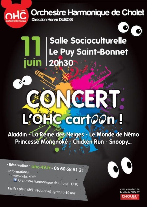 L'OHC cartoon concert au Puy-Saint-Bonnet Cholet