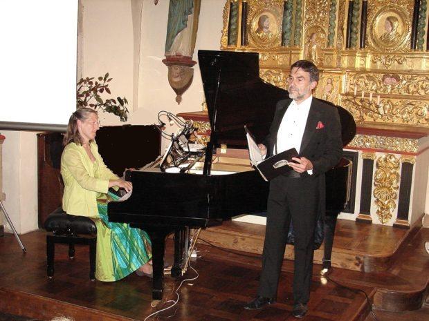 Le duo Patricia Heidsieck (piano) et Hervé Lamy (ténor) Ploubazlanec