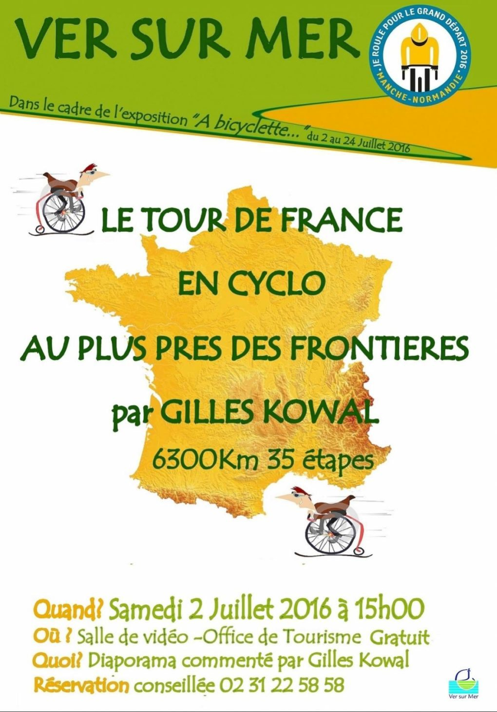 Le Tour France en cyclo au plus près des frontières G Kowal Ver-sur-Mer