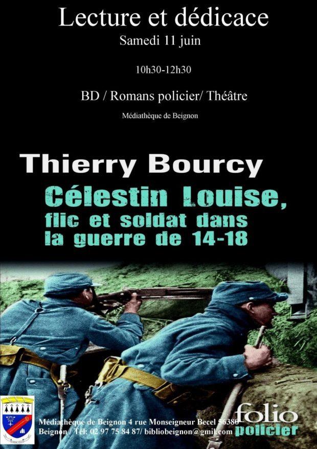 Lecture et dédicace par Thierry Bourcy Beignon