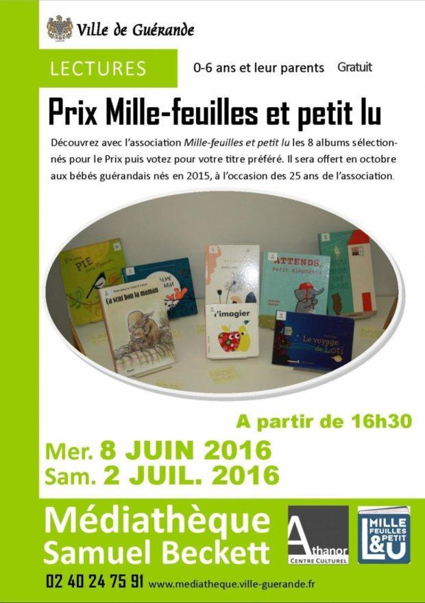 Lectures des albums du Prix Mille-feuilles et petit lu Guérande