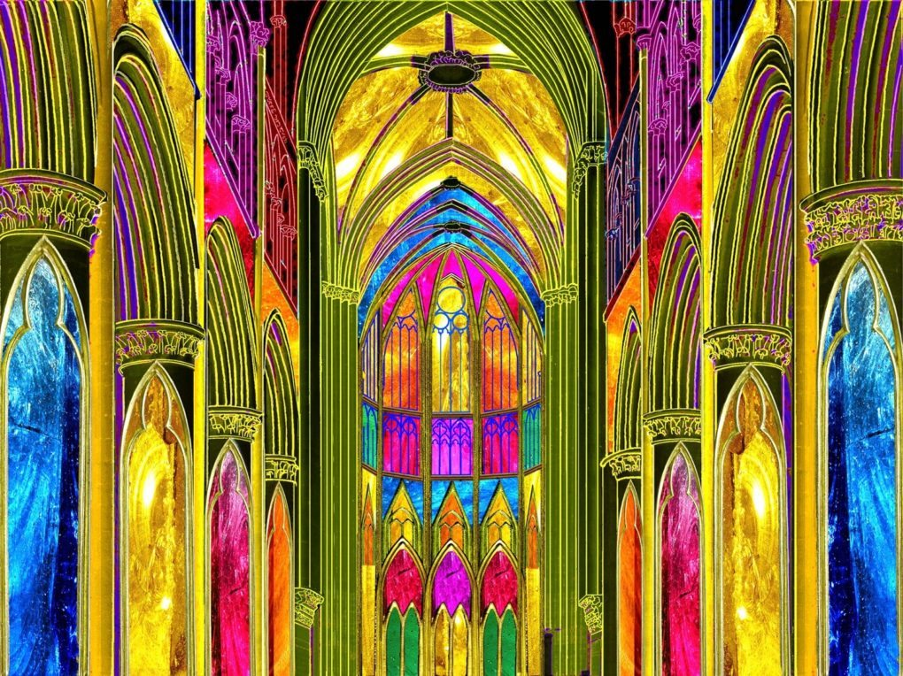 Musilumières lumières et projection sur l'architecture musiques Sées