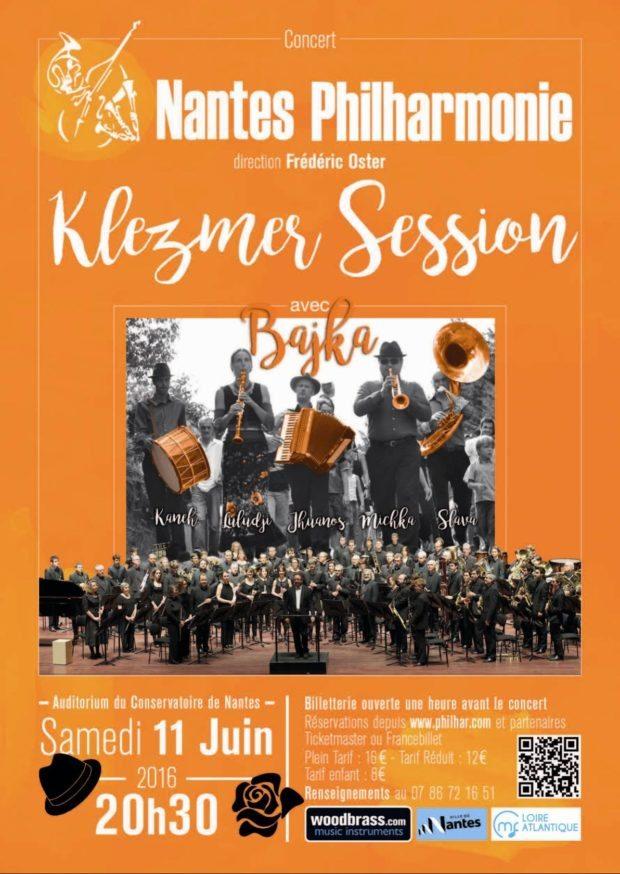 Nantes philharmonie et Bajka Klezmer Session Nantes