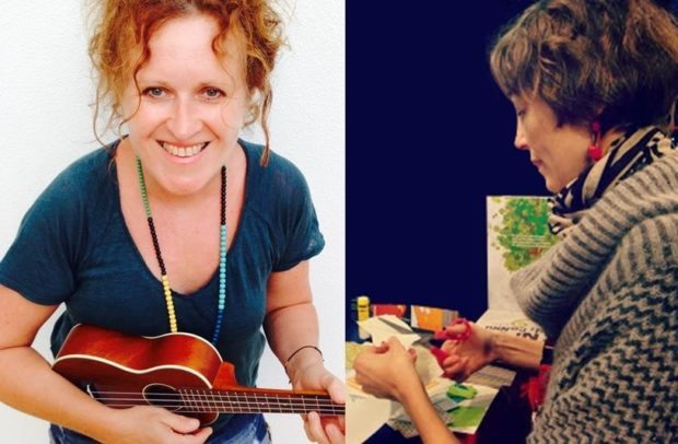 Natalie Tual et Aude Maurel en dédicace à médiathèque Pont-Saint-Martin