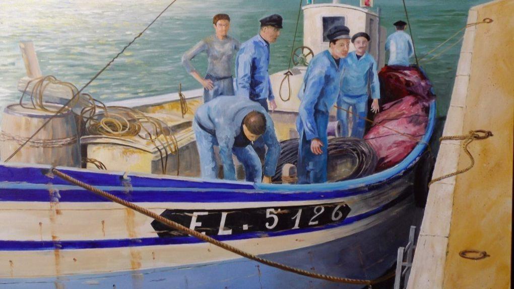 Peinture marine - Patrick Bertholom - circuit des chapelles Ploumilliau