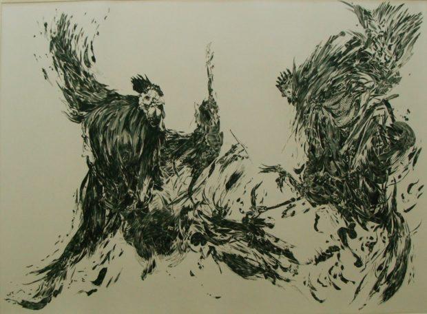Peintures Chantal Bineau et gravures Serge Marzin Landéda