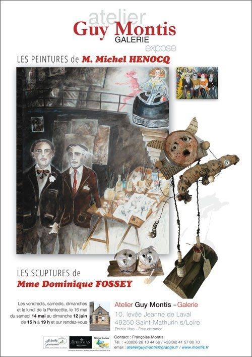 Peintures Michel Henocq et sculptures Dominque Fossey Loire-Authion
