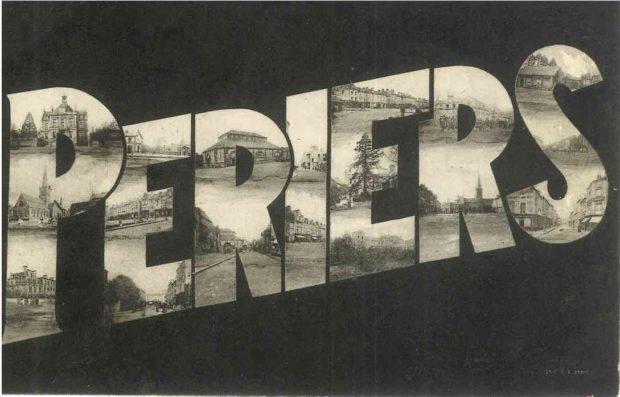 Périers avant et après bombardements 1944 Périers
