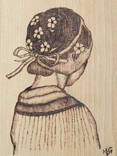 Pyrogravure sur bois tableaux céramique Concarneau