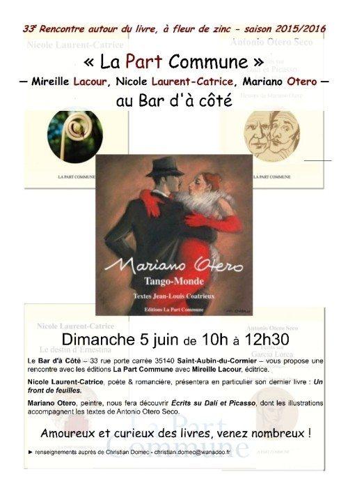 Rencontre autour du livre avec éditions Part Commune Saint-Aubin-du-Cormier