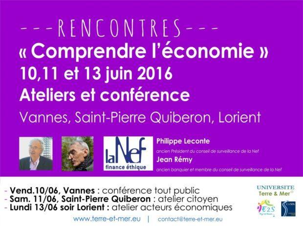 Rencontres Comprendre l'économie Philippe Leconte ( Nef) Vannes