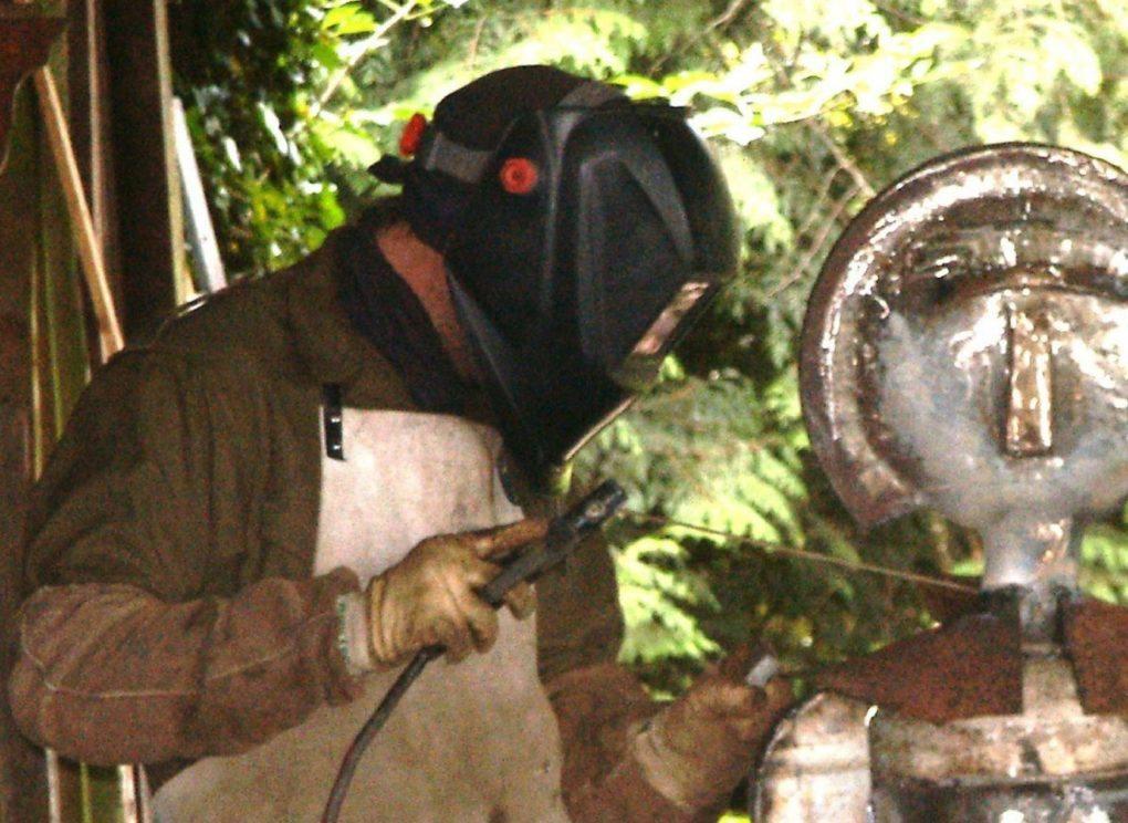 Sculpture métal - Christophe Beauvillain - Circuit des Chapelles Plestin-les-Grèves