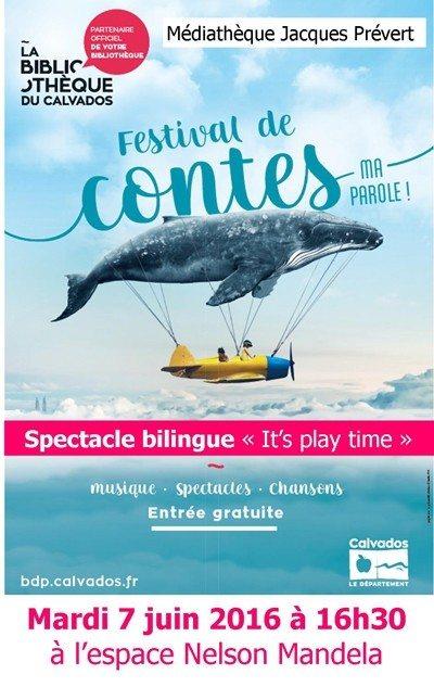 Spectacle bilingue It's play time Dives-sur-Mer
