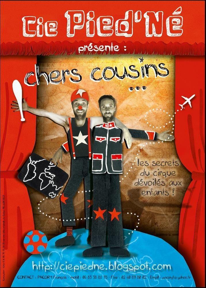 Spectacle de cirque Chers cousins par la Compagnie Pied'Né Guémené-Penfao