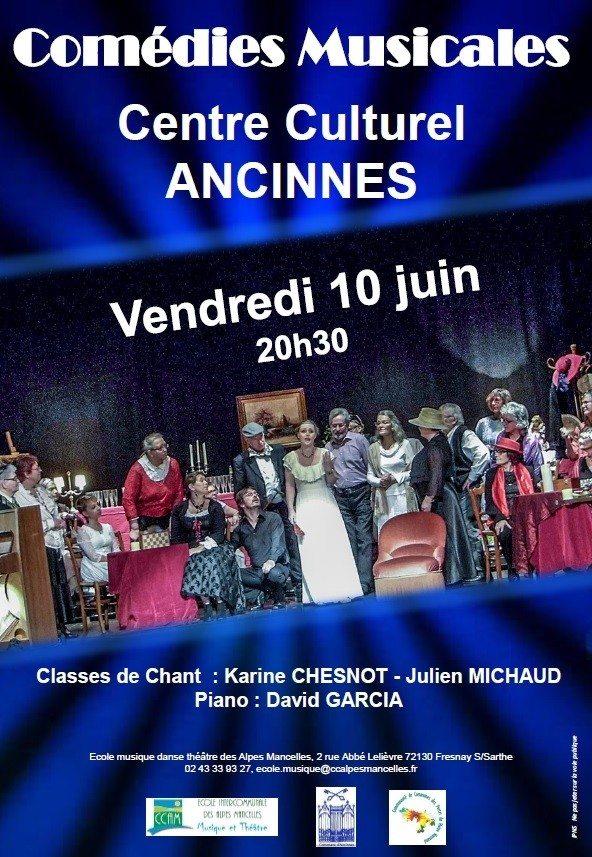 Spectacle comédies musicales Ancinnes