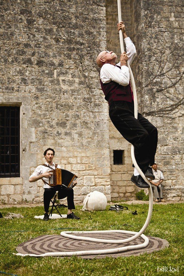 Spectacle La Corde et On par la Compagnie Hydragon L'Épine