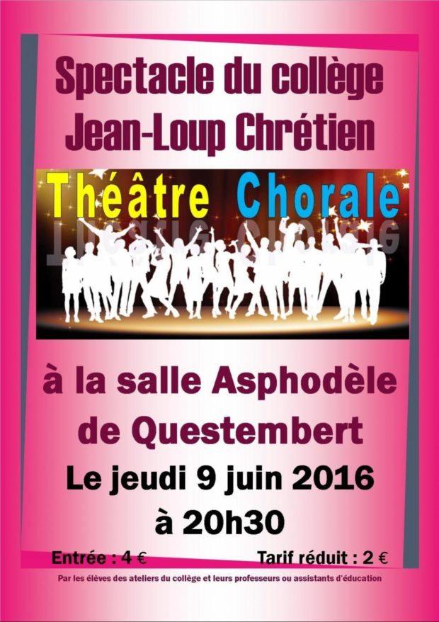 Spectacle fin d'année du collège théâtre et chorale Questembert