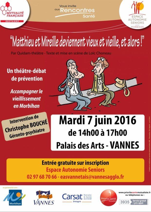 Théâtre-débat prévention accompagner vieillissement Vannes