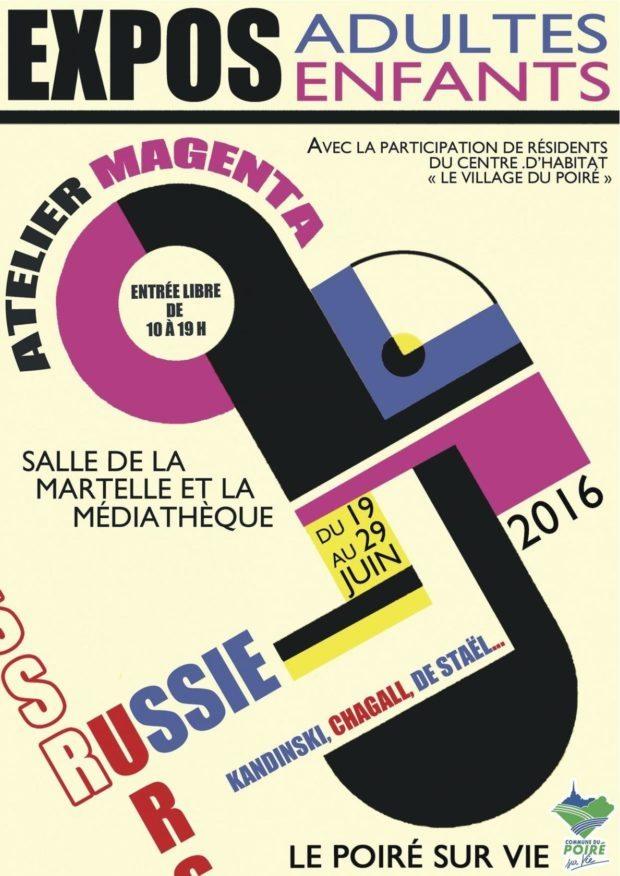 Travaux l'atelier Étude artistes russes Le Poiré-sur-Vie