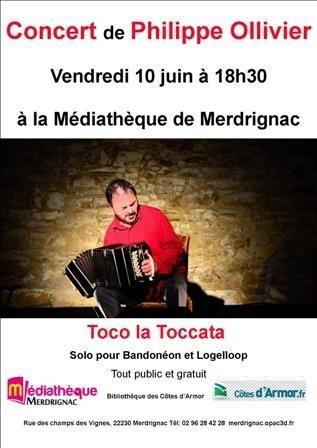 Un concert Philippe Ollivier Toco toccata Merdrignac