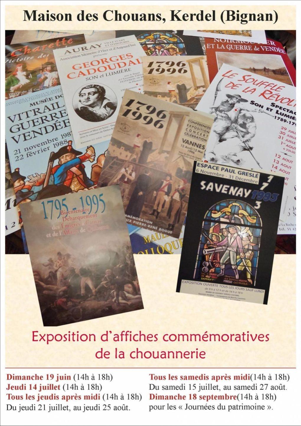Affiches commémoratives de la Chouannerie Bignan