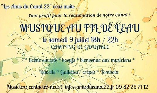 Amis du Canal 22 soirée musicale Gouarec