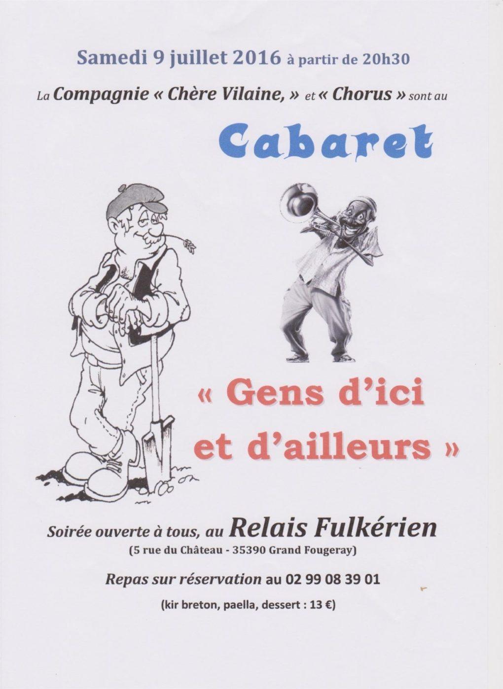 Cabaret Gens d'ici et d'ailleurs Grand-Fougeray