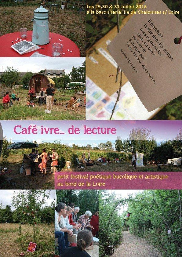 Café ivre de lecture festival poétique et artistique Chalonnes-sur-Loire